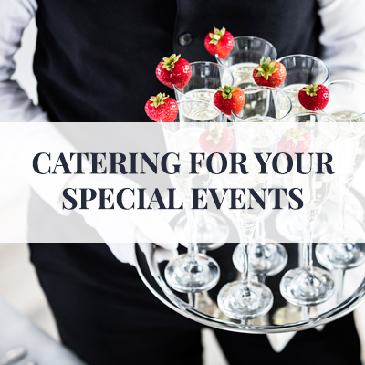 Let our experienced catering and event planning department handle your special event.